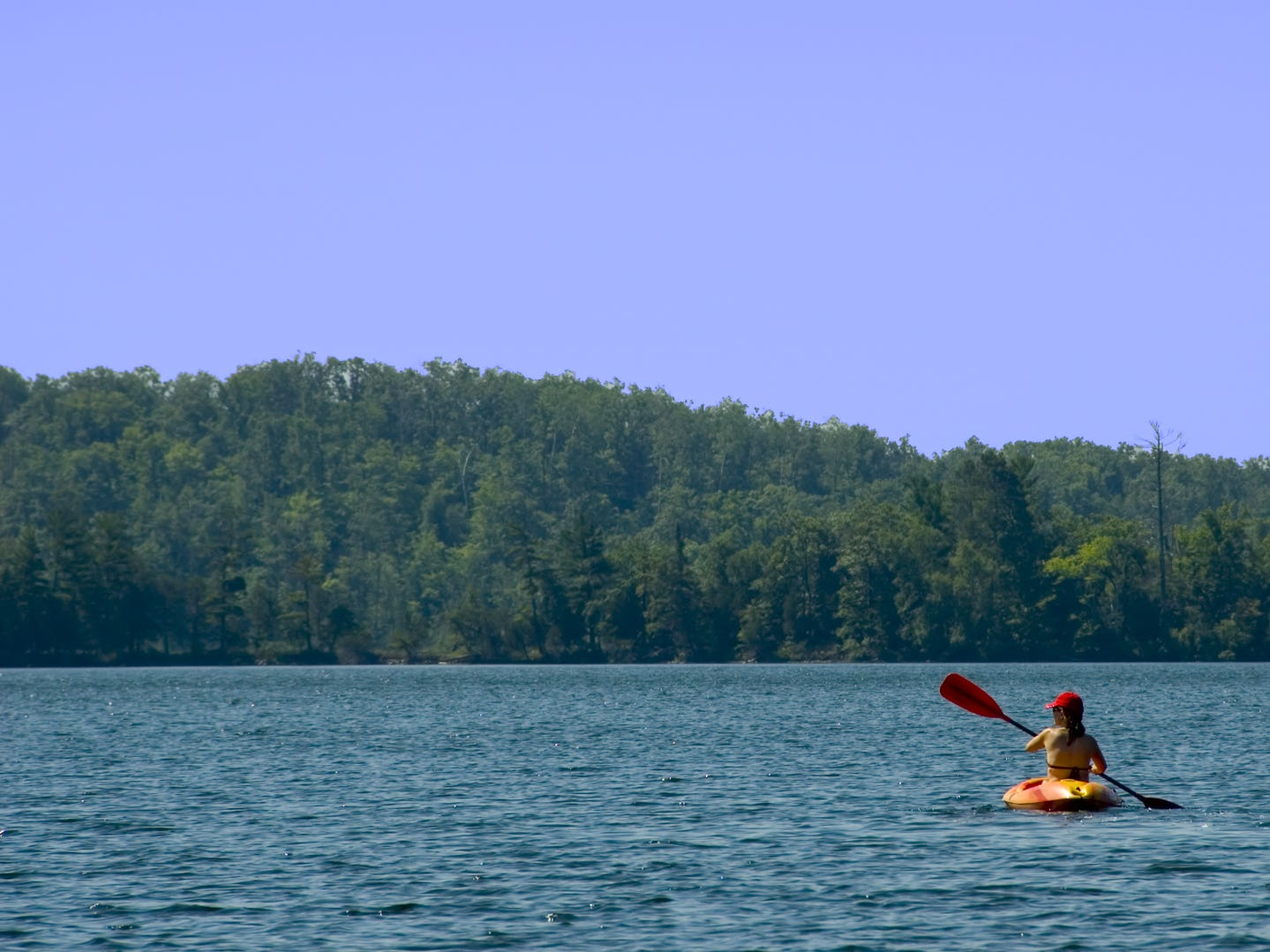 Minnesota: Whether you want to have an adventure-filled or relaxing weekend, you can do both in the Brainerd Lakes area. For those seeking some action, there are plenty of opportunities to golf, fish, boat, bike, snowmobile, bird watch or kayak. For those looking for a more laid-back experience, take part in one of the local festivals, browse the shops, take a leisurely walk in one of the parks or on the nature trails, or plan a spa day. For some kitschy fun, be sure to visit Paul Bunyan Land, which features a 26-foot-tall talking lumberjack.  If you will need to fly into Minnesota for your trip, make sure you know when to book a domestic flight. It's one of the best ways to save money for your vacation. Paul Bunyan Land: $21.95.