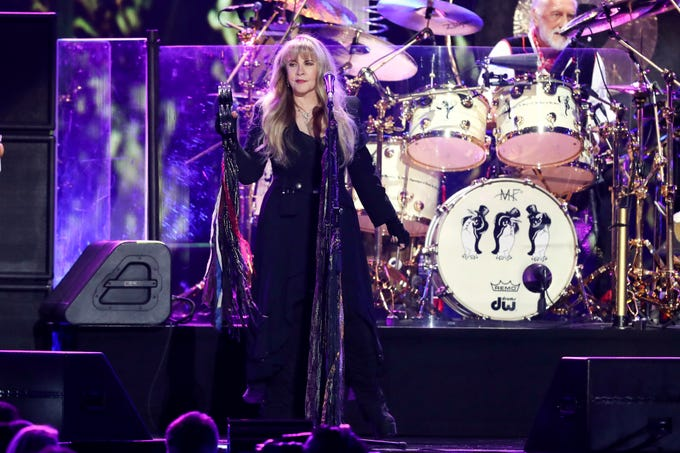 Stevie Nicks. Here, she performs at the 2018 iHeartRadio Music Festival at T-Mobile Arena Sept. 21, 2018, in Las Vegas.