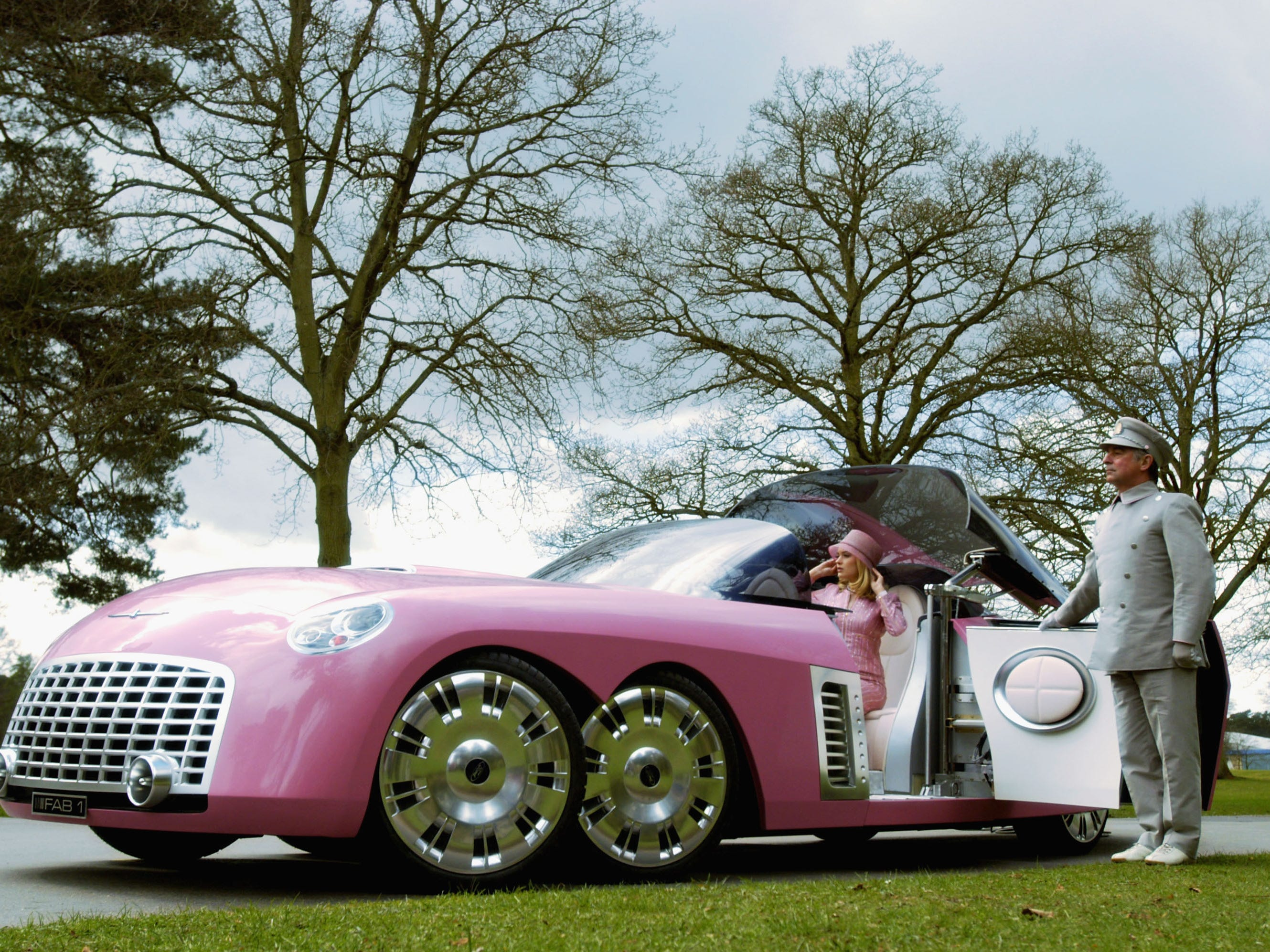 """This is a FAB 1 Limo unveiled on the set of the """"Thunderbirds"""" movie, April 2, 2003. The FAB 1 is 27 feet long and was built by hand in 12 weeks."""