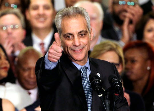 Chicago Mayor Rahm Emanuel (in a April 7, 2015 file photo) says he will not seek a third term.