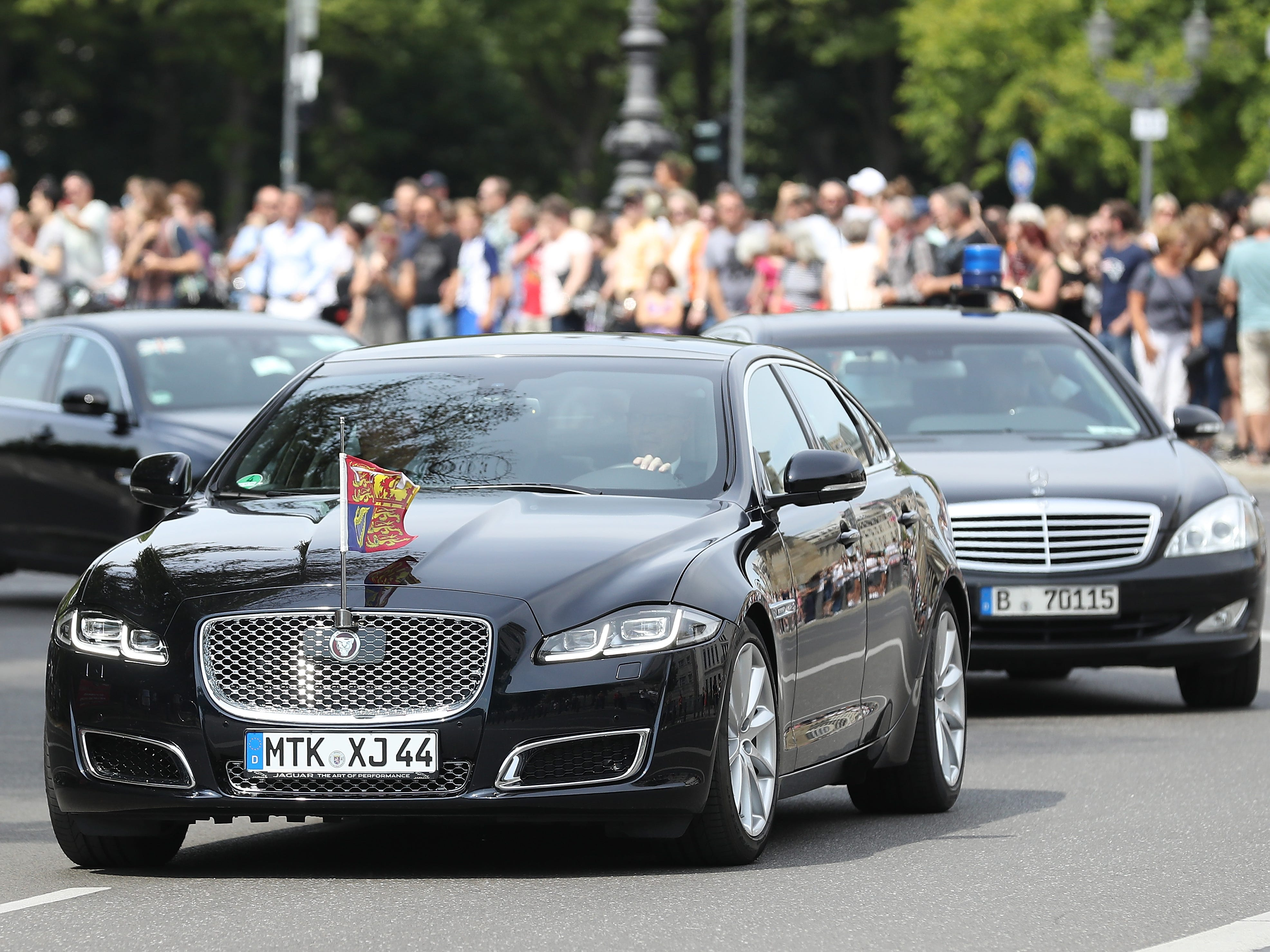 The Duke And Duchess Of Cambridge Visit Germany in this limo, July 19, 2017.