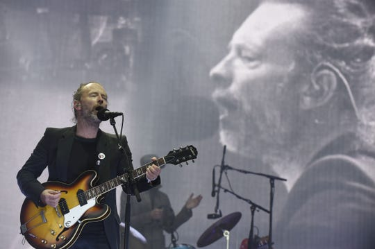 Thom Yorke from the British alternative band Radiohead, who got his second nod from Rock Hall this year.