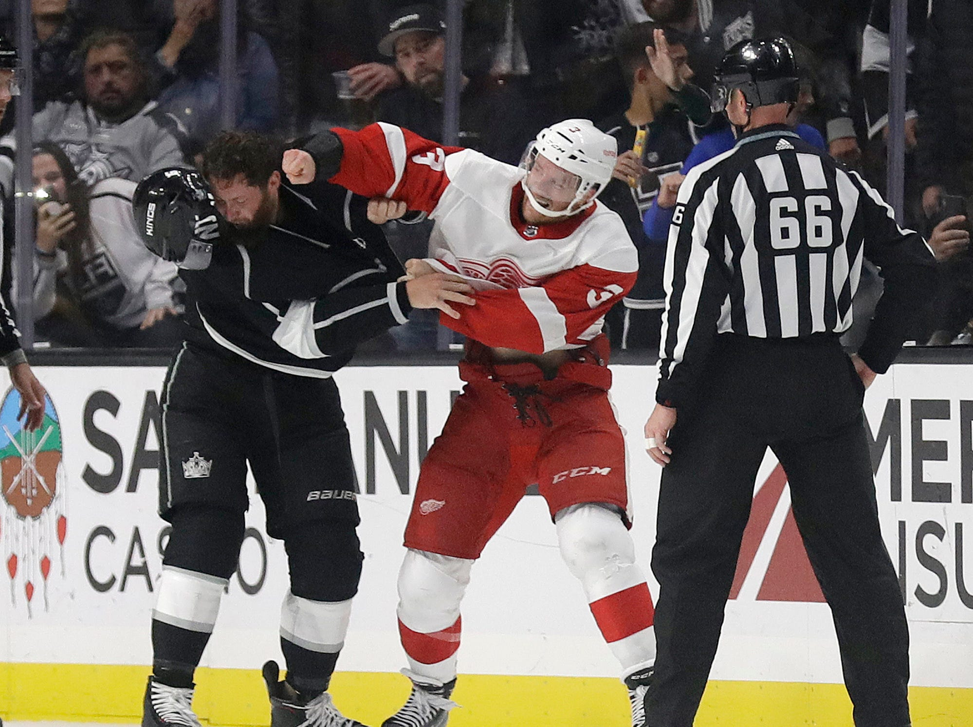 Oct. 7:  Kings' Jake Muzzin vs. Red Wings' Nick Jensen.