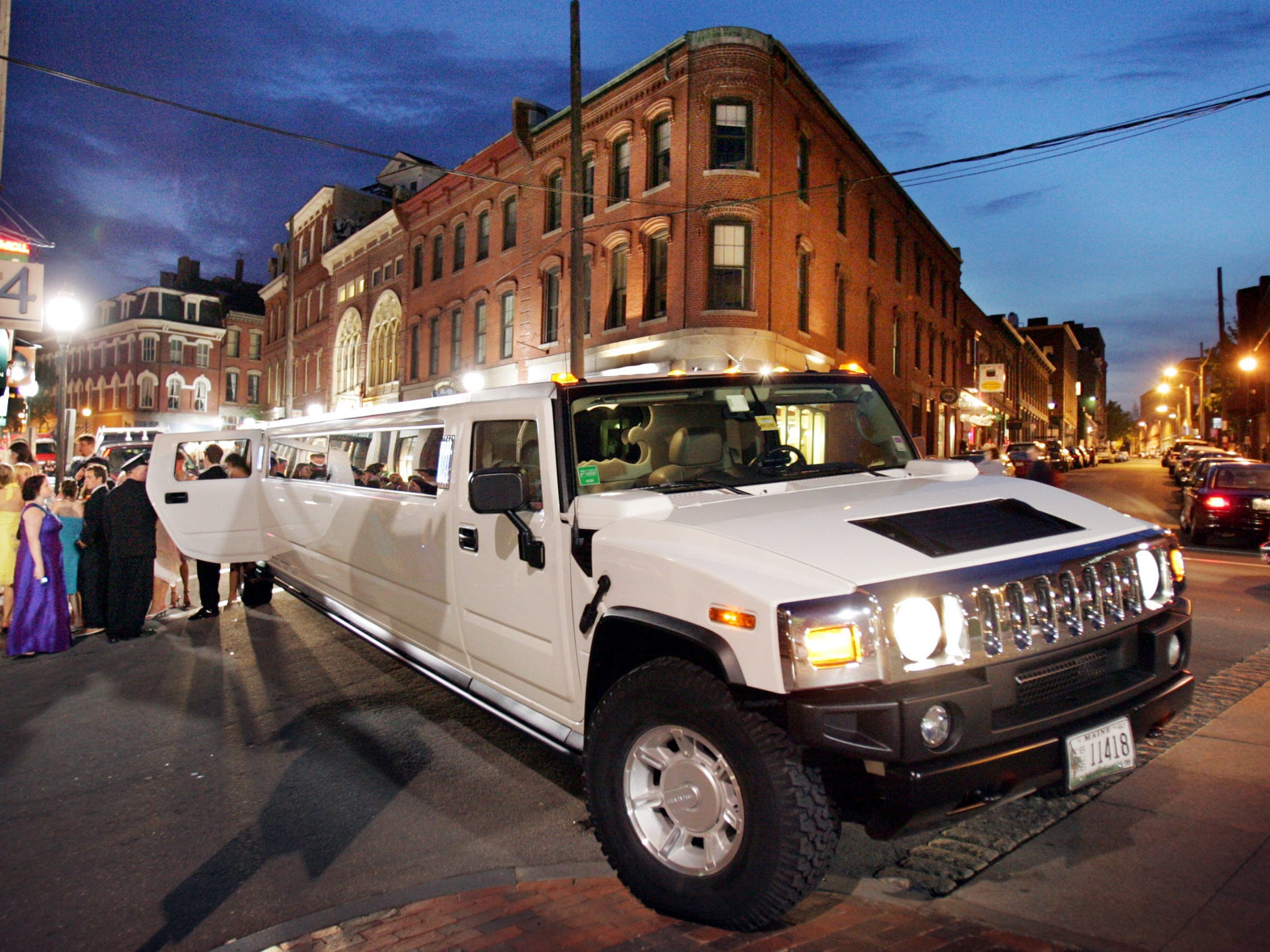A 34-foot Hummer limo on prom night in Portland, Maine, June 4, 2005.