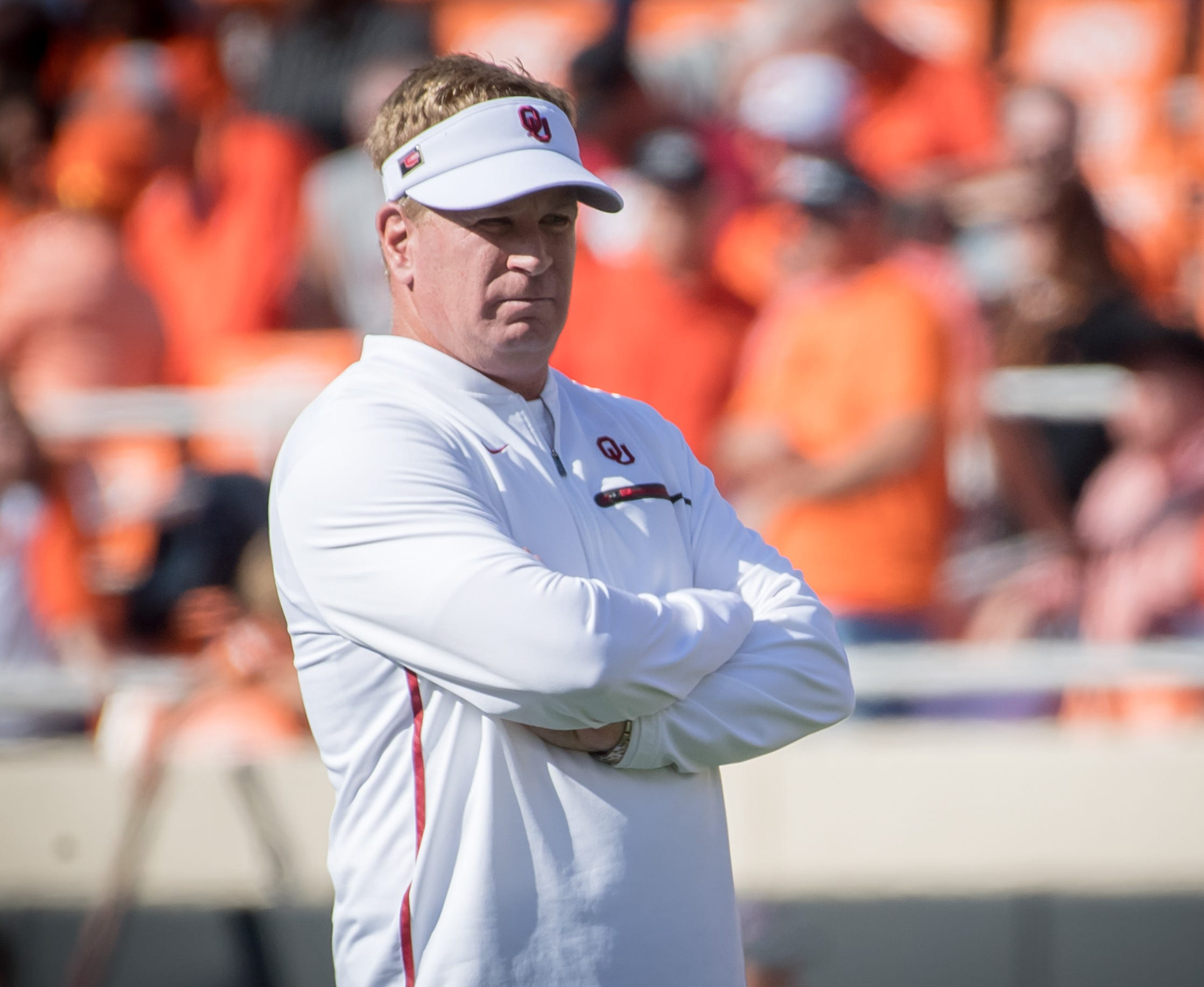 Mike Stoops was fired as defensive coordinator at Oklahoma after the Sooners lost to Texas in 2018.