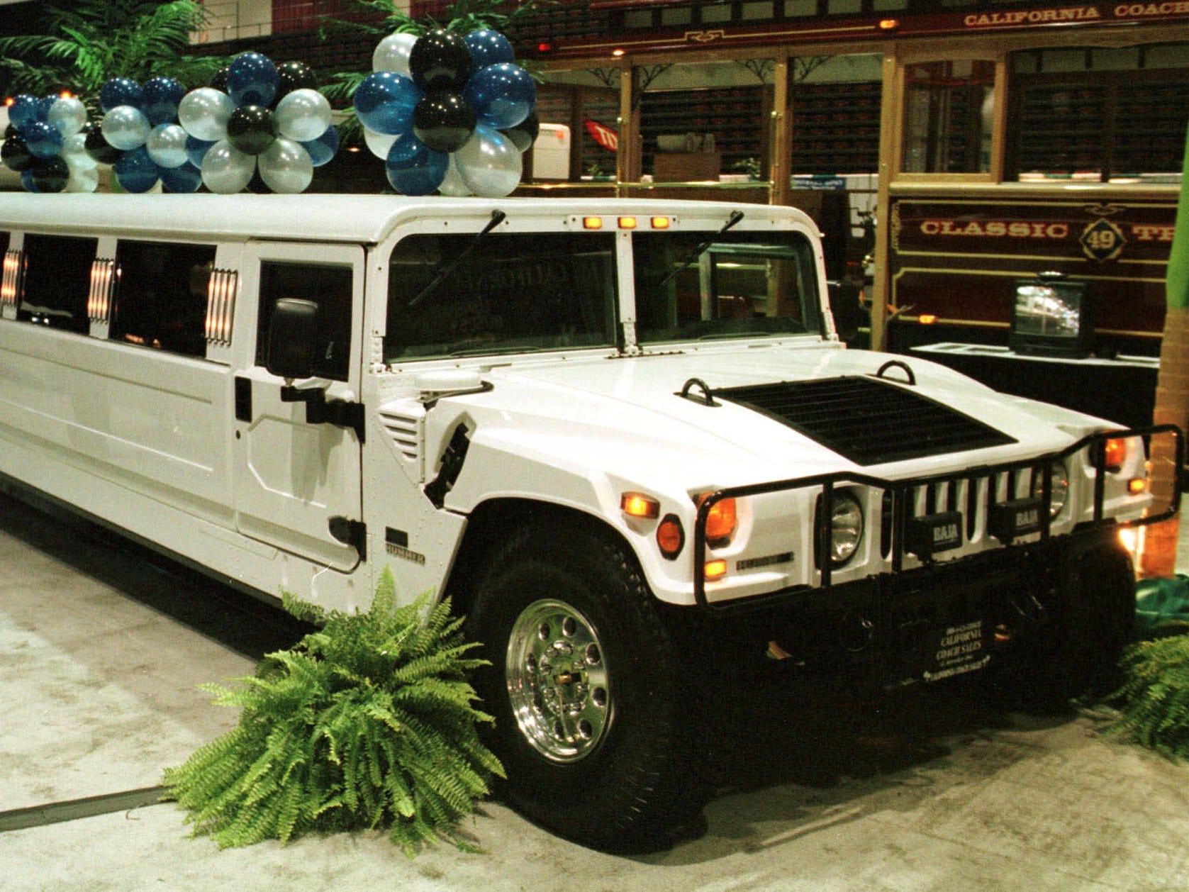 A 1999 stretch Hummer Limo at the Trump Taj Mahal Casino Resort in Atlantic City, N.J., Nov. 9, 1998.