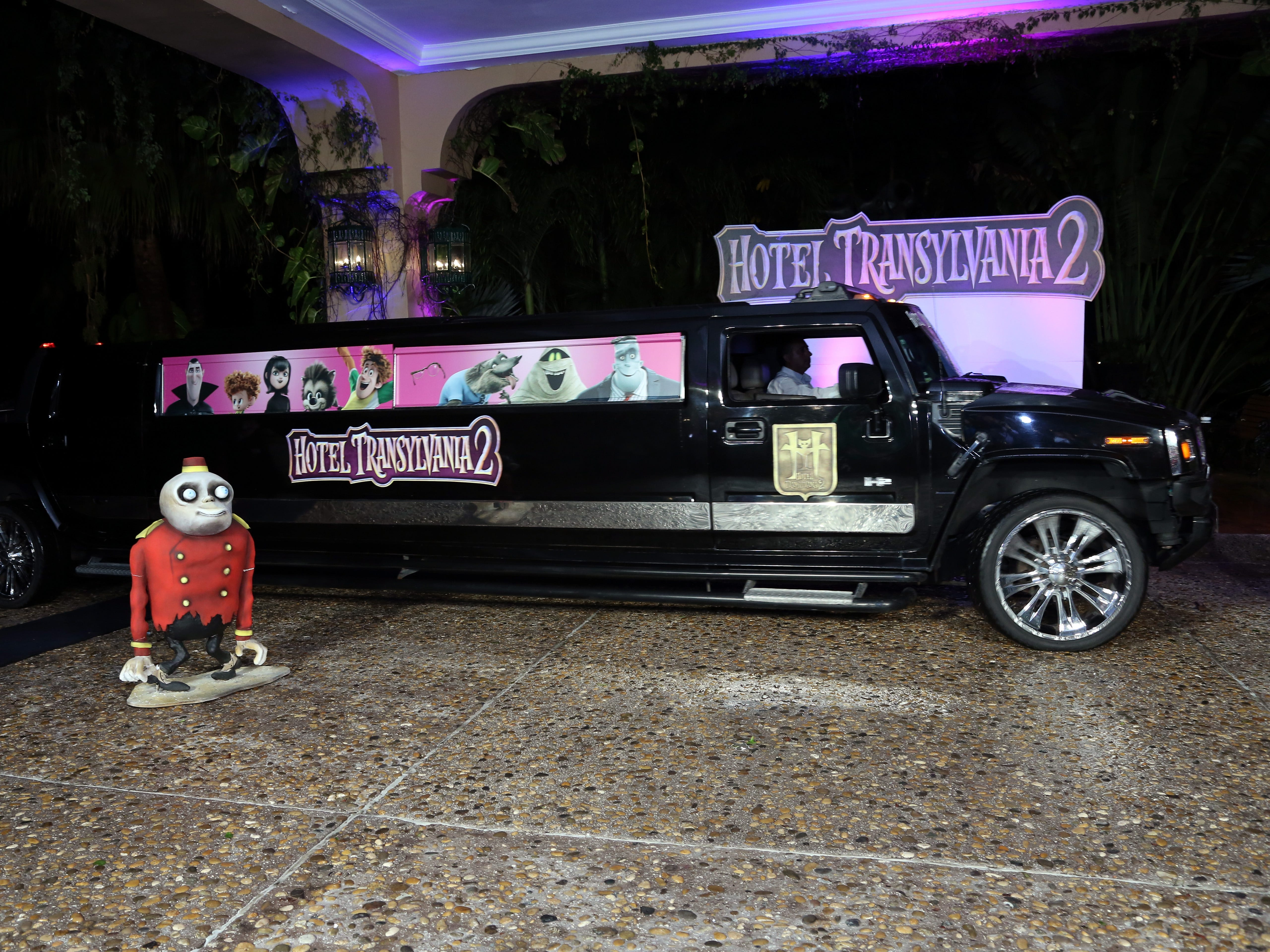 """This limo was at the """"Hotel Transylvania 2"""" photo call in Cancun Mexico June 14, 2015."""