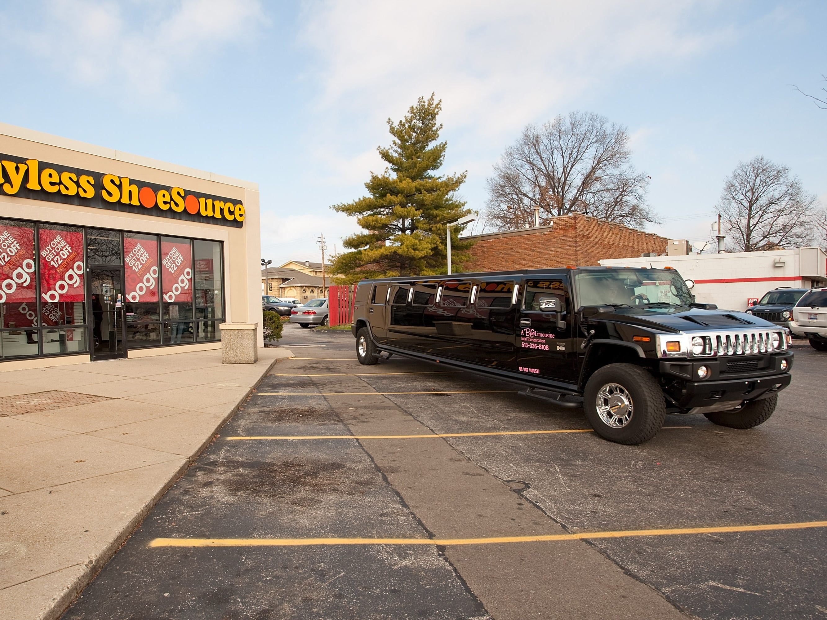 This limo outside a Payless ShoeSource in Cincinnati, Ohio, Nov. 20, 2009.