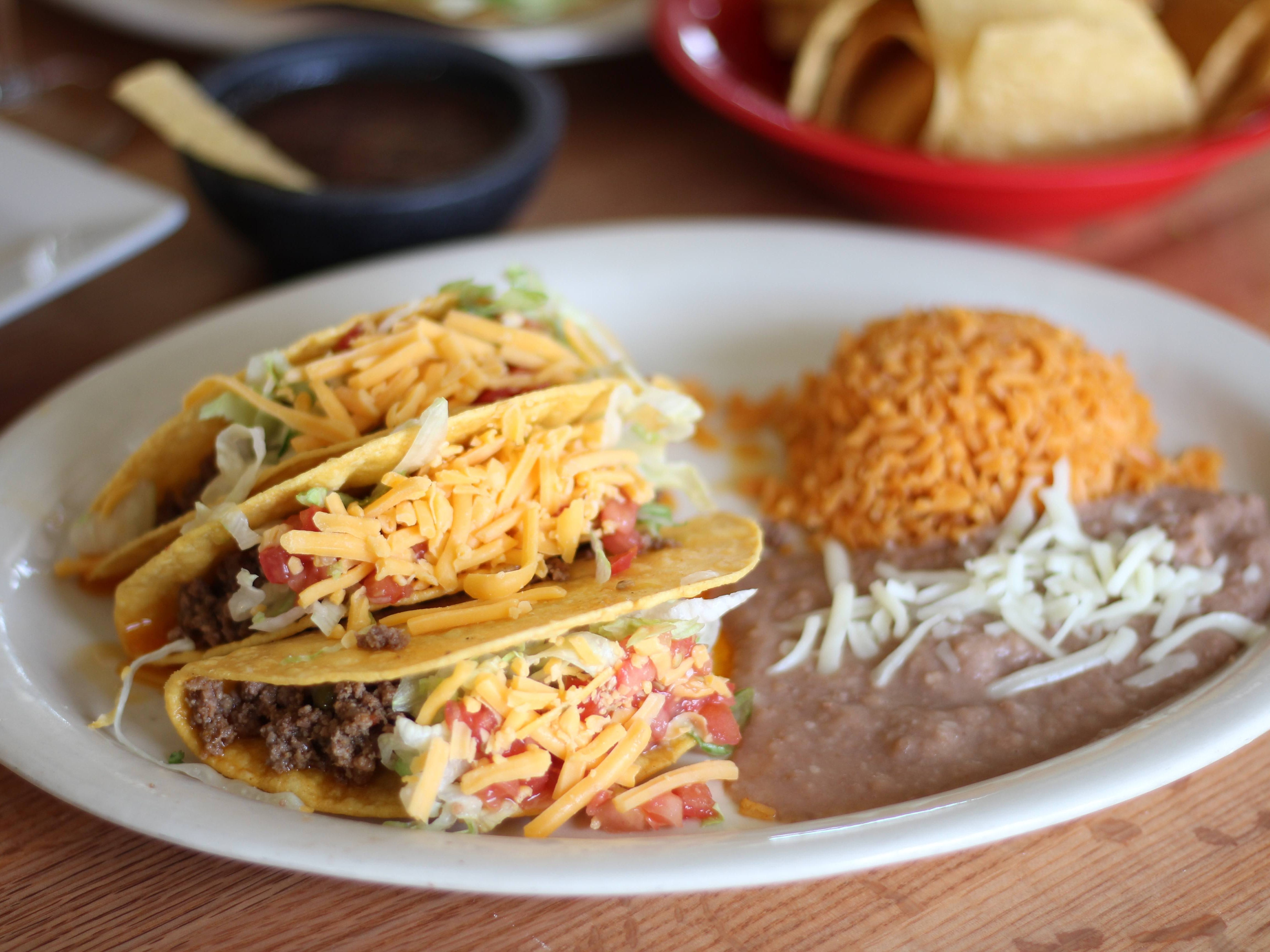 "Forty years ago, if you ordered tacos in a Dallas restaurant, what arrived at the table were three crispy corn shells filled with seasoned ground beef, shredded iceberg lettuce, chopped tomatoes and ribbons of an orange-yellow cheese that was more often Velveeta than cheddar. Pinto beans ""refried"" in lard and a scoop of Mexican-spiced rice usually showed up for the ride. El Rincon wasn't around 40 years ago, but they seem to have captured the era's simple Tex-Mex spirit."