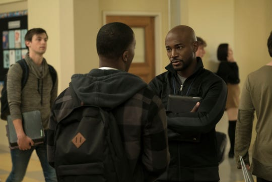 "Daniel Ezra as Spencer James and Taye Diggs as Billy Baker on ""All American."""