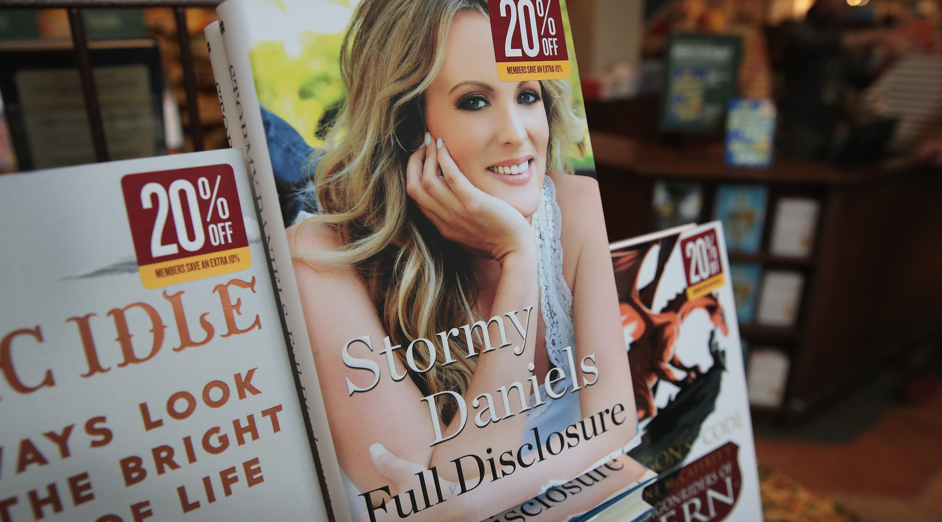 """Full Disclosure,"" a memoir by adult film star Stormy Daniels, is offered for sale at a Barnes & Noble store on Oct. 2, 2018, in Chicago."