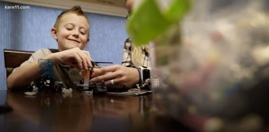 Quinton Hill, 7, from Lakeville, Minnesota is one of several children in the state diagnosed with acute flaccid myelitis, a polio-like disorder that can cause paralysis.