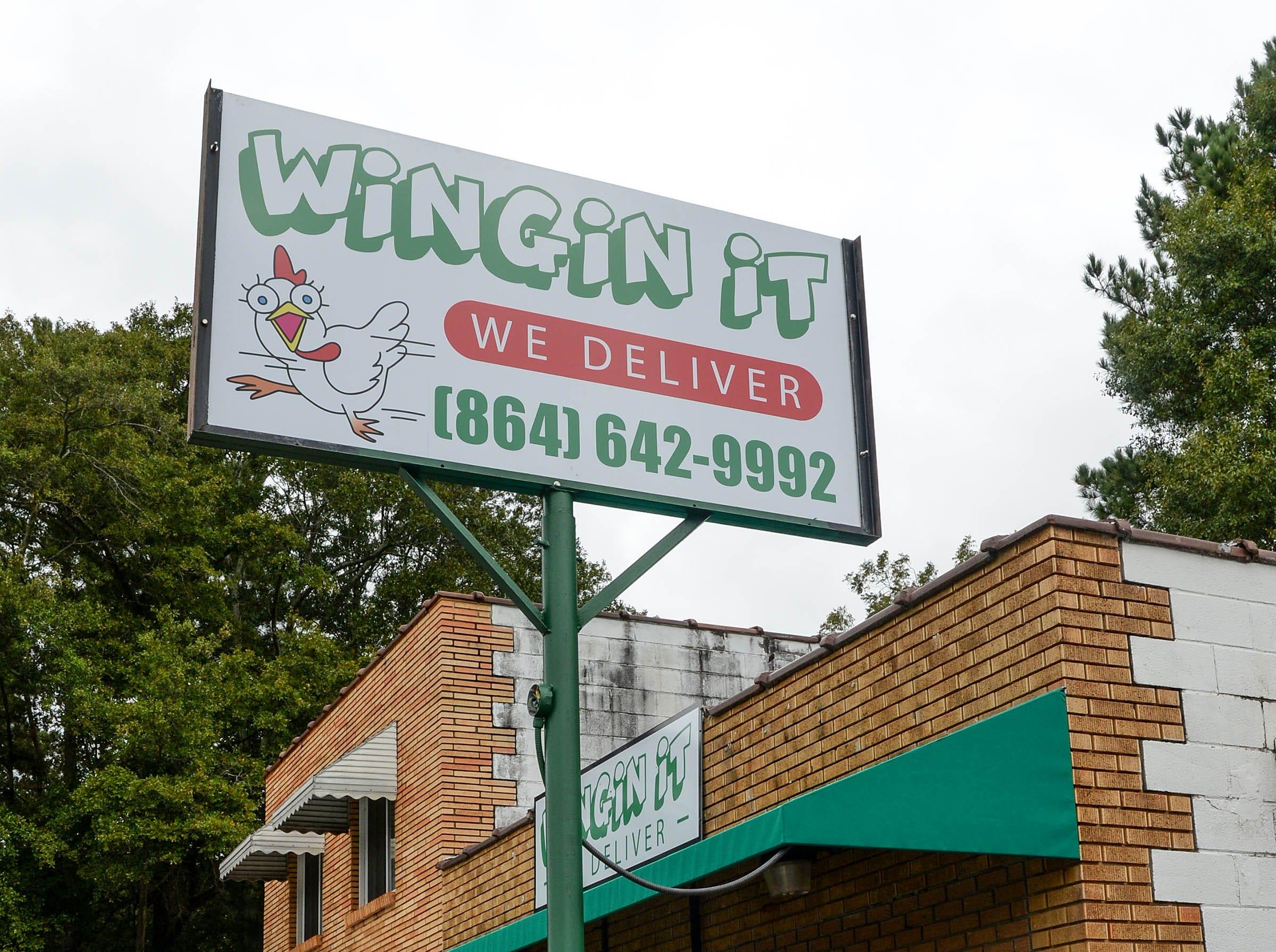 Wingin It on the Belton Highway in Anderson, across from Nutty Sweet Shop.