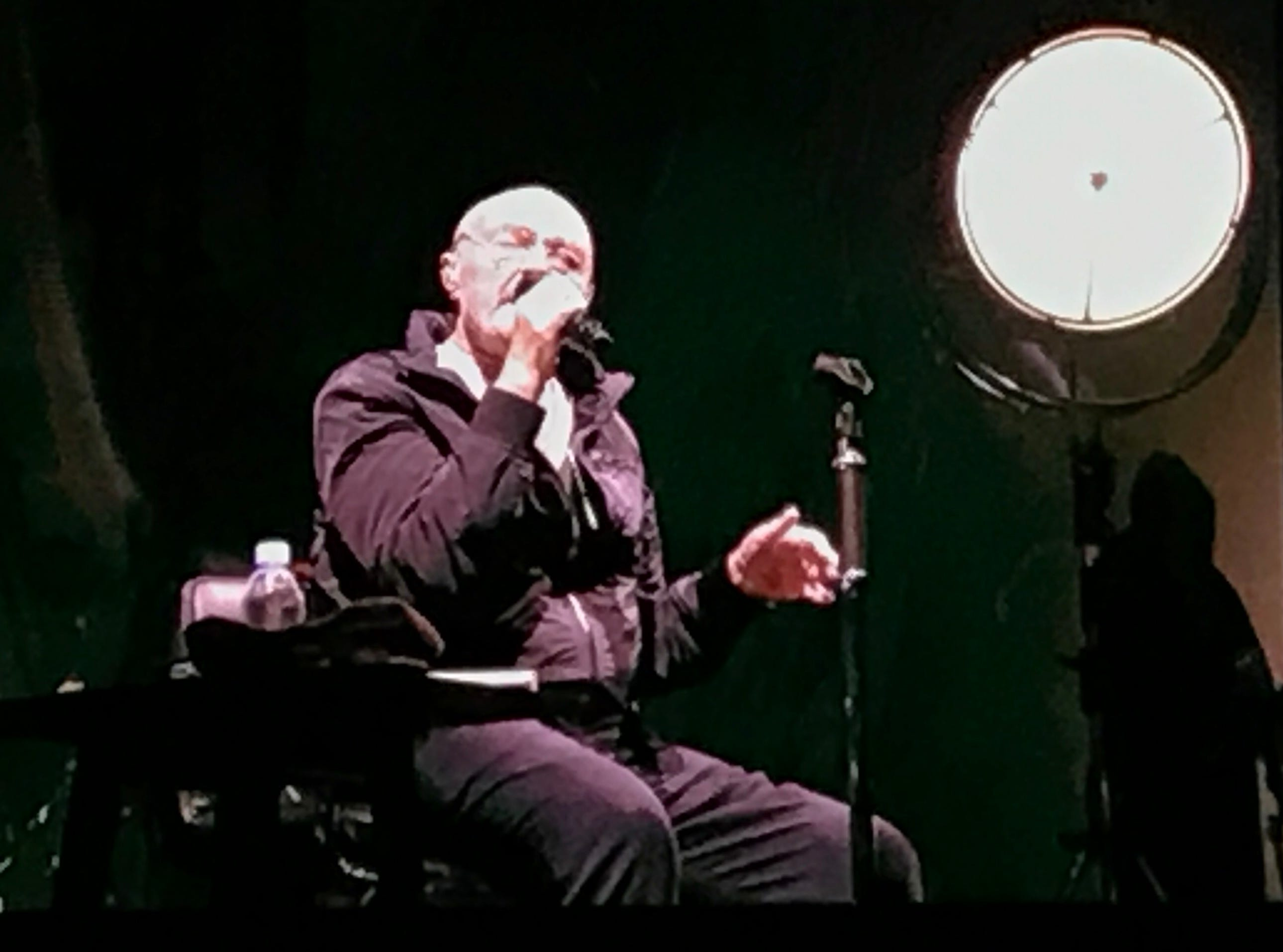 Phil Collins at the Wells Fargo Center in Philadelphia on Monday, Oct. 8