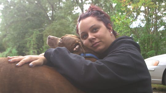 Nicole Sorchinski claims Ocean Medical Center staff said her service dog 'Nala,' could not stay with her in the hospital