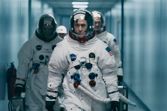 """Ryan Gosling in a scene from """"First Man."""""""