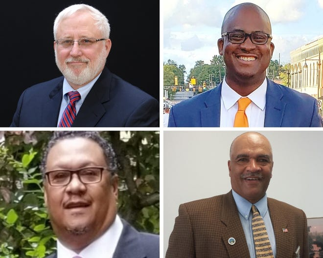 Candidates for city of Albion contested races.