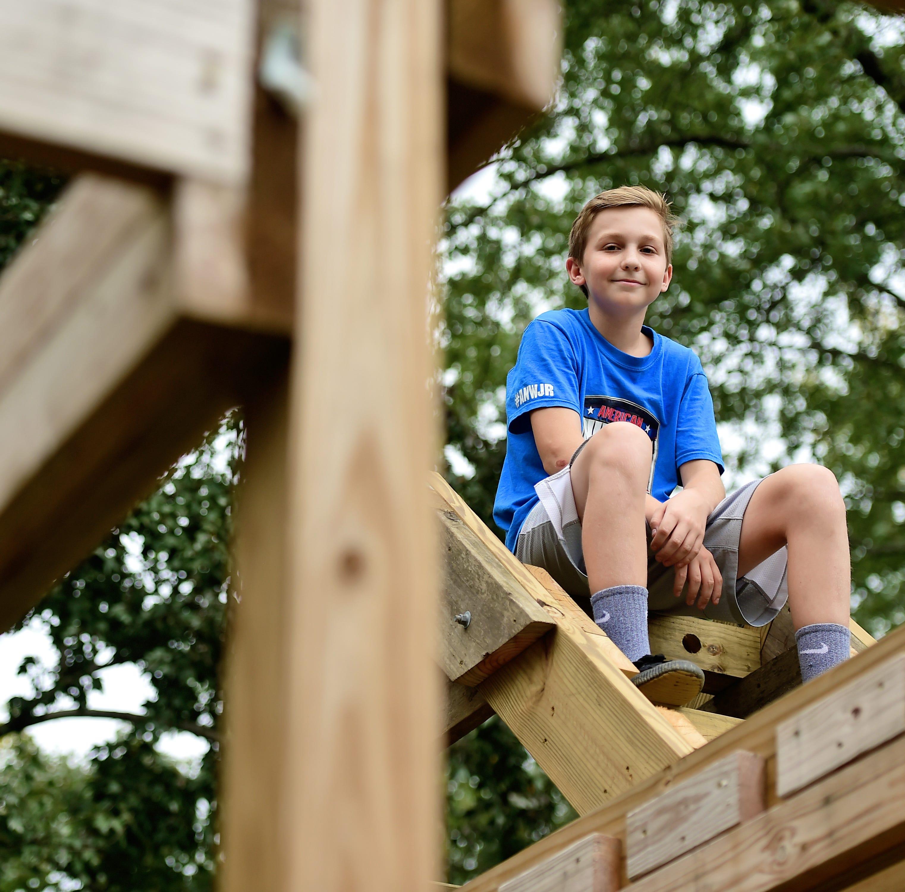 American Ninja Warrior Junior contestant trains at Vestal home gym dad built