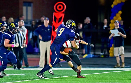 Susquehanna Valley's Jarred Freije had 34 tackles, 8 1/2 for losses in helping the Sabers to a 13-0 season.
