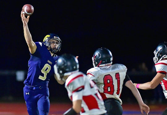 Susquehanna Valley's Jarred Freije threw for more than 1,200 yards and 13 touchdowns as a senior. Over three seasons as SV's starting quarterback, Freije threw for nearly 3,000 yards.