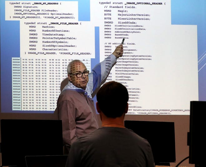 Erik Fretheim teaches his cybersecurity class at Olympic College in Poulsbo. Western Washington University has teamed with Olympic College to offer a bachelor's degree in cybersecurity at Olympic College.