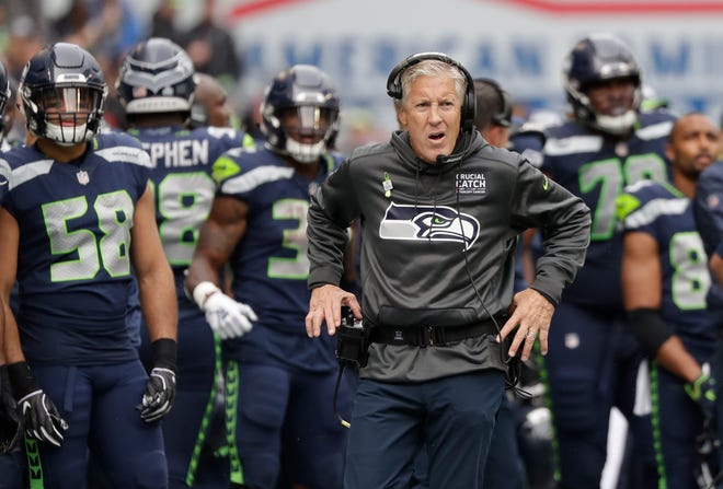Seahawks coach Pete Carroll said he reached out to former assistant Gus Bradley for advice on how to deal with the team's trip to London this week. Bradley, currently defensive coordinator for the Chargers, made the trip four times as head coach of the Jaguars.