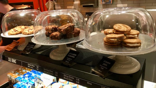 Desserts at Blaze Pizza include a chocolate chip cookie sprinkled with sea salt, an olive oil-brushed brownie  and S'more Pie,