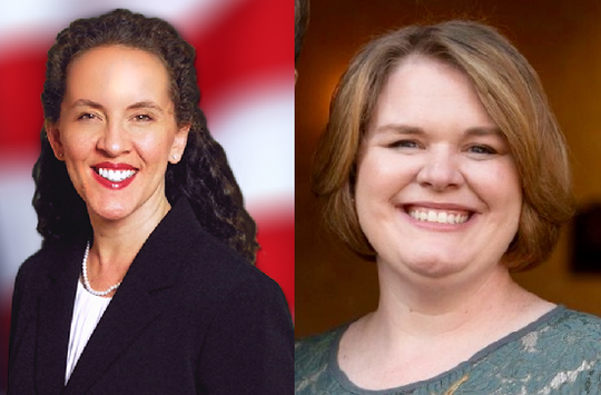 Katye Campbell, left, and Kelly Damerow are the candidates for Brevard County School Board District 5.