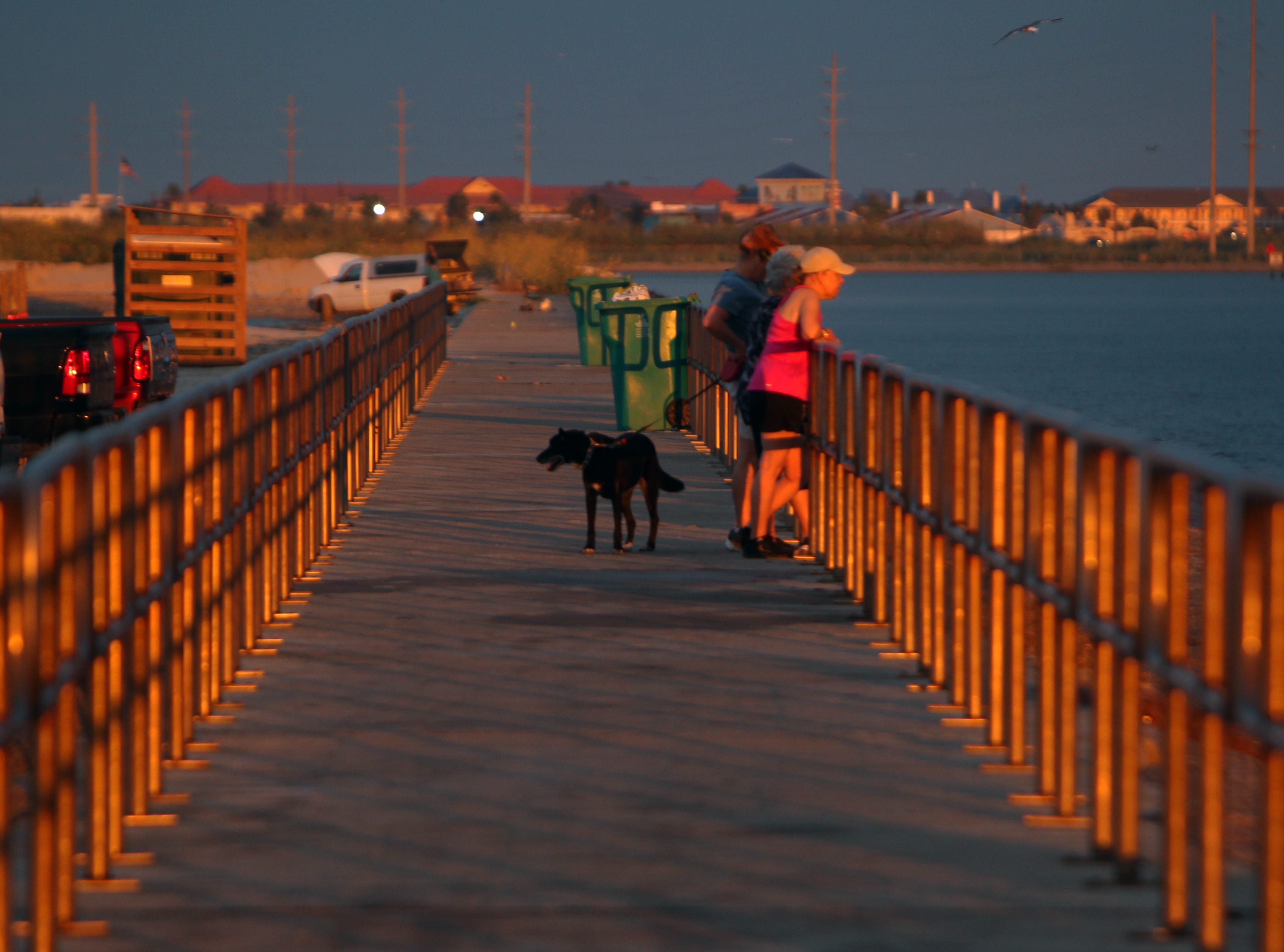 Packery is the only Texas jetty with a flat walking surface with a double handrail along its entire length.