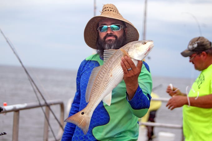Lately, mostly redfish have been caught at jetty's end with live and cut bait.