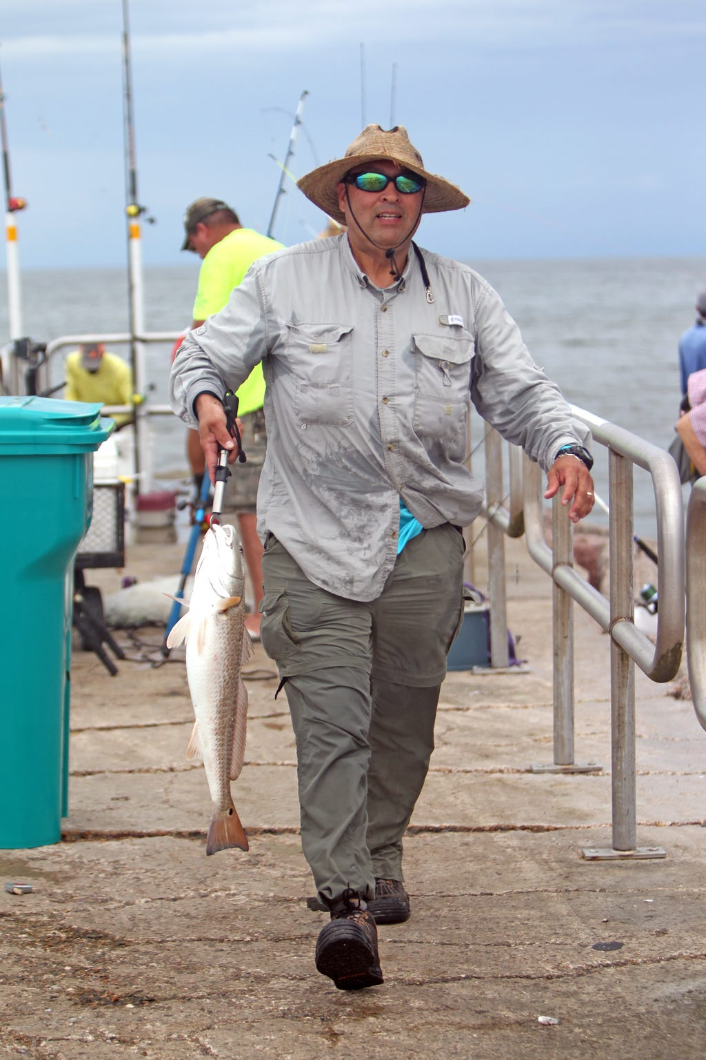 Rarely is a single redfish caught at any given time on the jetty.
