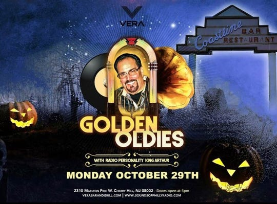 The former Coastline bar and restaurant looms in a background graveyard on this poster for the next Coastline reunion and Golden Oldies night of dancing Oct. 29 at Vera Bar and Grill in Cherry Hill.