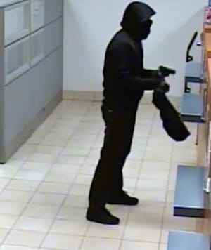 Matthew Burney of Brigantine pleaded guilty Tuesday to robbing three banks, including this December 2017 holdup at a PNC Bank branch in Marlton.