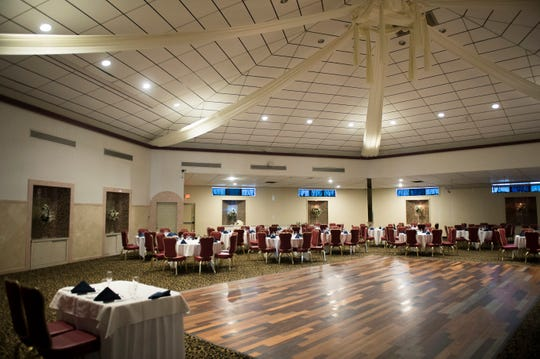 The banquet hall inside Scarpinato's in Turnersville, N.J.