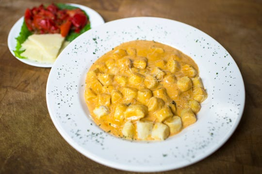 House-made gnocchi in a rosa sauce from Scarpinato's in Turnersville, N.J.