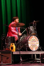 "Rich Morello is Ringo Starr, shown here in his Sgt. Pepper phase, as part of ""Beatlemania Again.''"