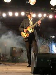 Alan Leboeuf is Paul McCartney, here in his earliest Beatles years, in 'Beatlemania Again.'