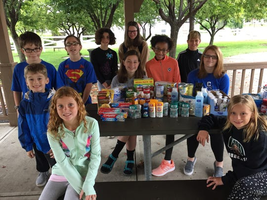 Members of the Kountry Magic 4-H Club collected items for the Kindness Cupboard.