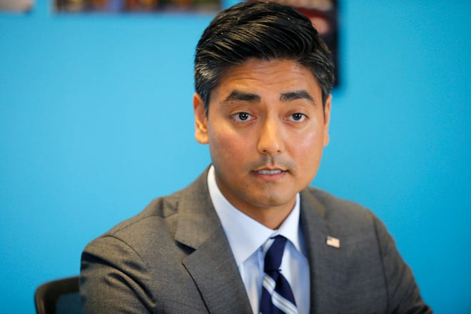 Hamilton County Clerk of Courts Aftab Pureval, is the Democratic candidate for the U.S. House to represent the 1st Congressional District of Ohio speaks with the Cincinnati Enquirer editorial board Tuesday October 9, 2018.