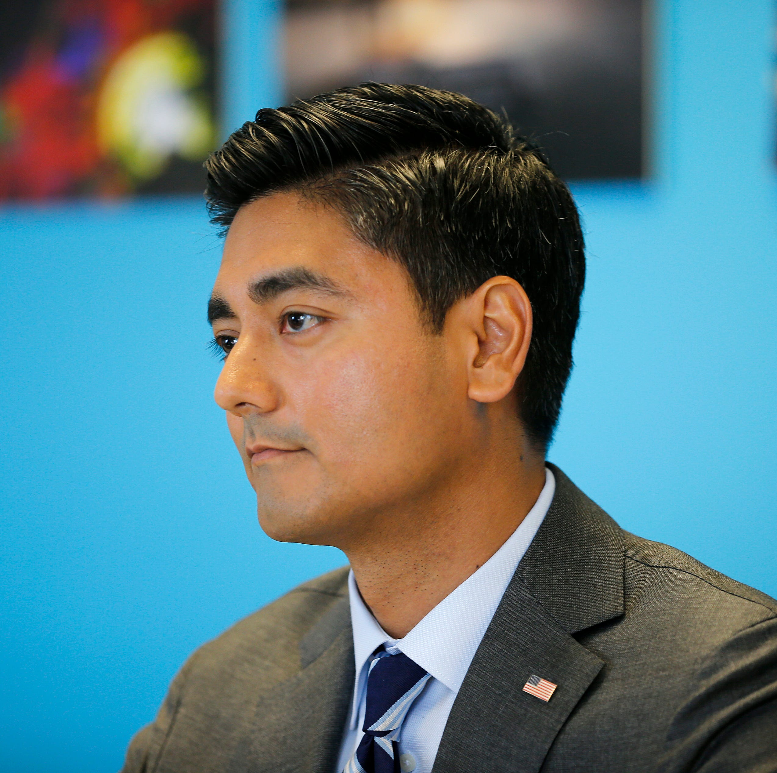 Aftab Pureval declined to criticize Trump. But he did distance himself from Nancy Pelosi.