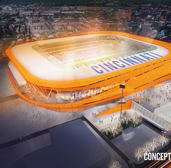 That FC Cincinnati stadium orange glow is a go -- but with a new architect