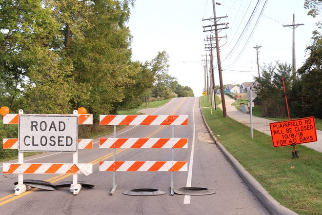Plainfield Road is closed between Cooper and Glendale-Milford Roads for construction of a roundabout at the new subdivision.