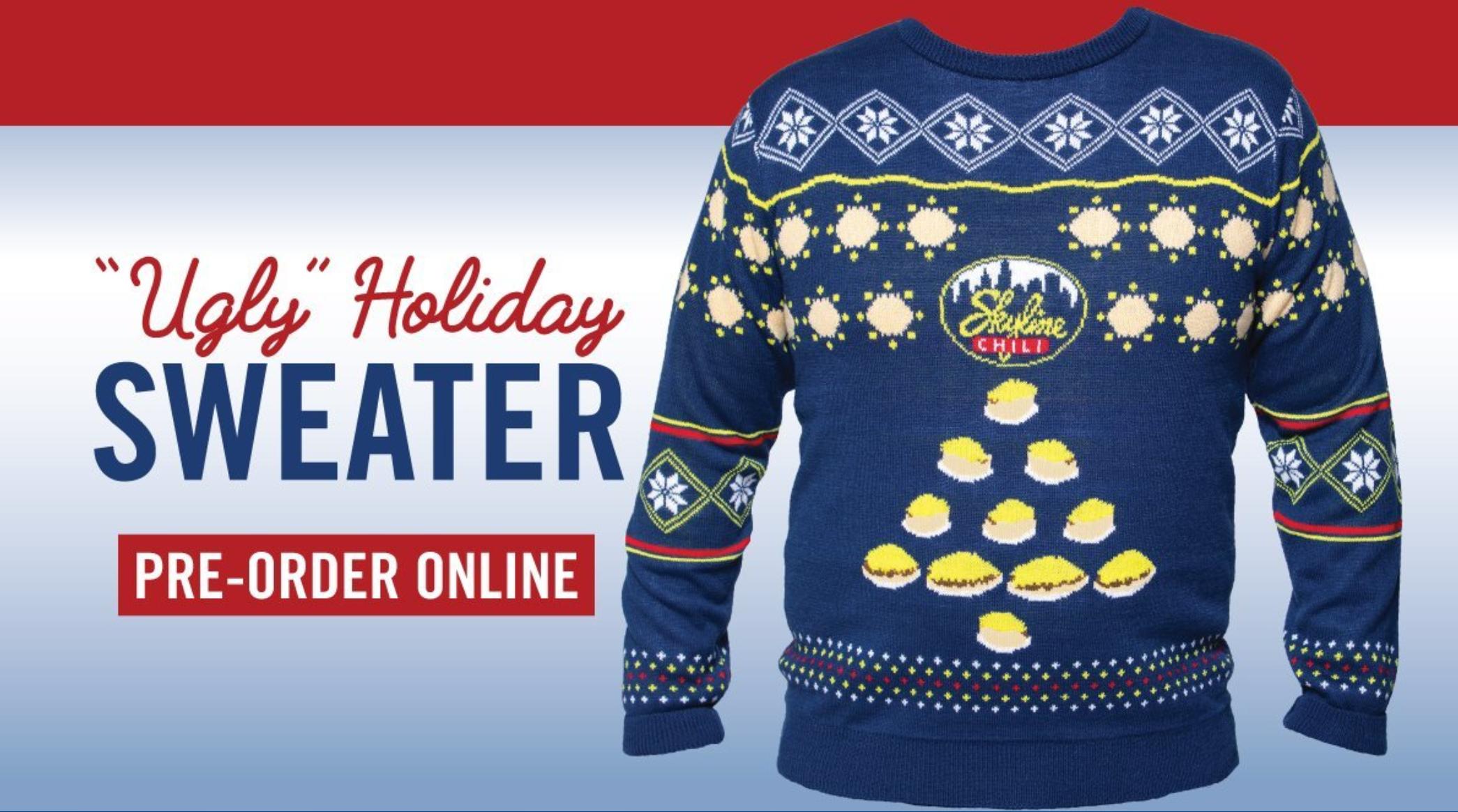 Skyline Chili Sells Chili Themed Ugly Holiday Sweater