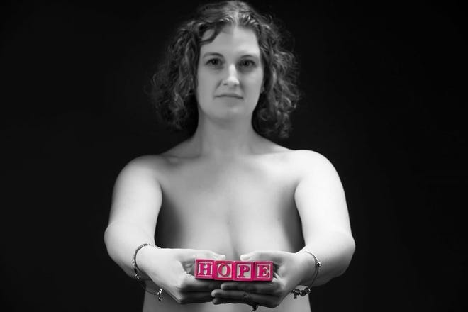Heather Jablonowski was 32 when she was diagnosed with breast cancer. She posed for these photos in 2015, before her double mastectomy. She said persistence and trusting her gut might have saved her life.
