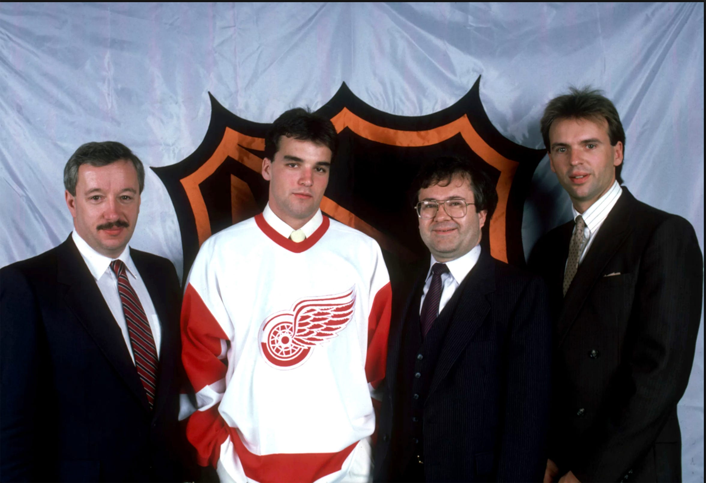 Joe Murphy on draft night in 1986 when he was selected by the Detroit Red Wings.