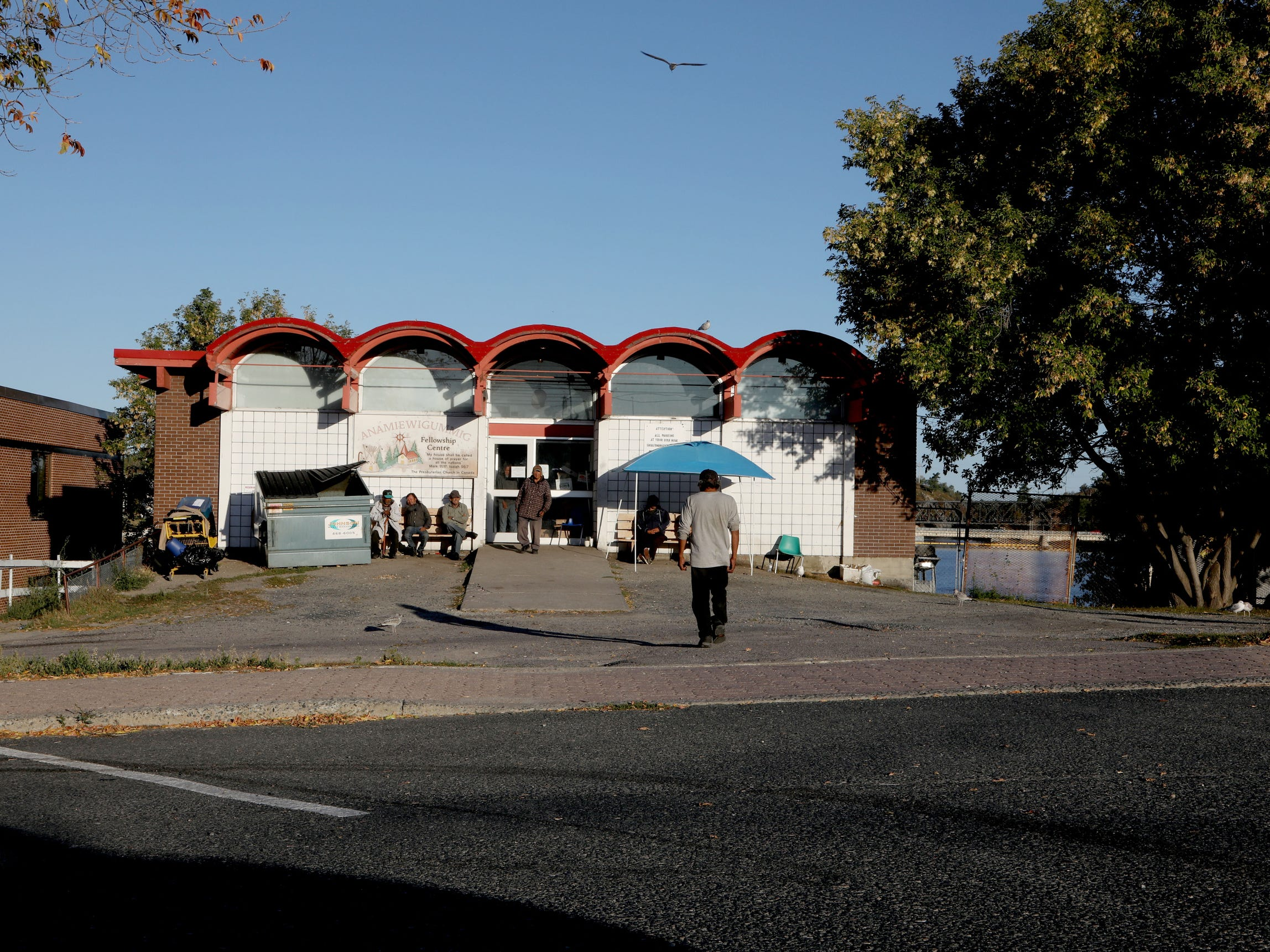 The Anamiewigummig Fellowship Centre as seen here is where Joe Murphy stops by daily to shower and sometimes pick up clothing. Murphy tends to be a loner and not associate with others while he is there.