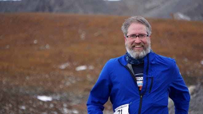 Michael Silvio, an auto executive from Livonia, grew a beard to stay warm prior to competing in the Antarctica Marathon in March 2016.