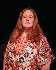 "Margaret Edwartowski stars as Cass Elliot, aka Mama Cass, in the musical ""Call Me Cass,"" which she also wrote. It's playing at the Berman Center in West Bloomfield on Oct. 13-14, 2018. Photo by Lizz Cardwell."