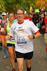 Mike Silvio competed in the New York City Marathon in November 2013, five years after he decided he needed to run as stress relief during the economic downturn.