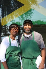 Owners of Delphine's Jamaican Restaurant in Warren Delphine Drake and her son, Tony Williams.